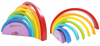 Harga Rainbow educational early childhood arched wooden piles of musicBlocks