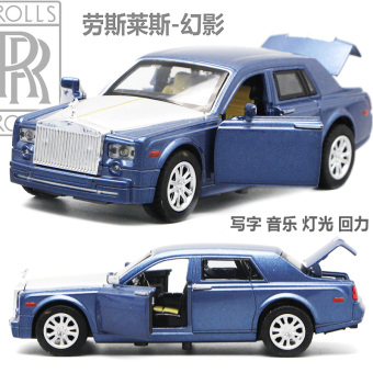 Rolls-Royce door open light alloy car model children's toy car
