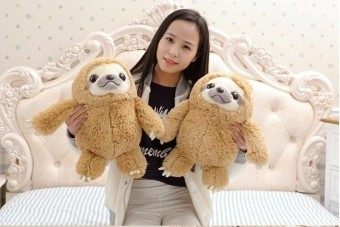 Simulation Sloth The Baby Doll Lifelike Sloth Plush Toys Stuffed Dolls & stuffed toys Kids Lovely Doll Best Holiday Gifts WW36cm - intl