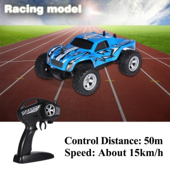 Sweatbuy 2.4GHz 4Channel Remote Control Racing Car RC Vehicle Model Toy(Blue) - intl