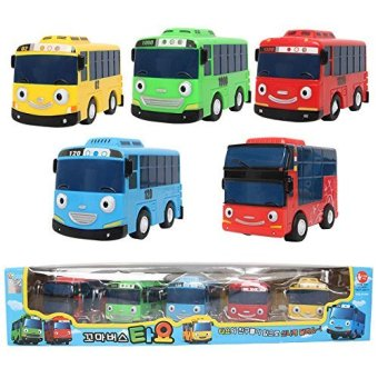 The Little Bus TAYO Bus Wind up Toy Set [ 5 pcs Tayo Rogi Gani Rani Citu ]