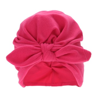 Toddler Kids Baby Soft Cotton Knot Hat Rabbit Ears Stretchable CapBeanie - intl