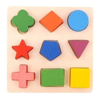 TOY Geometry Wooden Stacking Building Block Toy Montessori Educational Kids Baby - intl