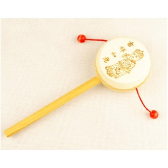 Wooden Rattle Toys Drum Percussion Musical Toys Hand Bell Toy Early Childhood - intl