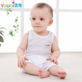 d2f5054a1a3c YOUQI Thin Summer Baby Clothing Set Cotton T-shirt Pants Vest Suit Baby  Boys Girls