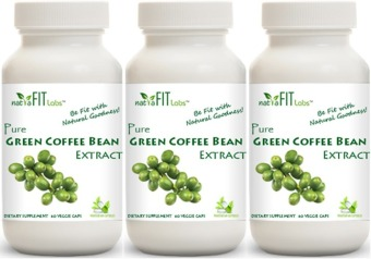 Buy 1 get 1 free natraFIT Labs(TM) Pure Green Coffee Bean Extract Vegetarian Capsules Promo Pack