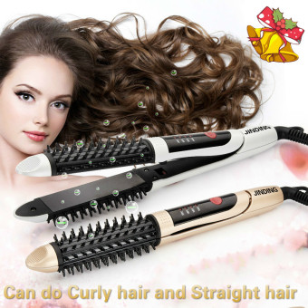 Harga Ceramic Curling Hair Straightener Hair Curler 28mm Thermostat(White) - intl