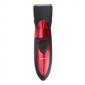 Electric Rechargeable Men's Shaver Razor Beard Hair Clipper Trimmer Set (Red)
