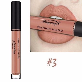 Fancyqube Women's Fashion Qibest 12 Colors Nude Matte Velvet Glossy Lip Gloss Lipstick Lip Cream H03 - intl