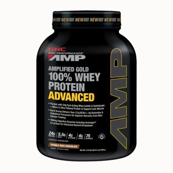 GNC Pro Performance (R) AMP Gold 100% Whey Protein Advanced - Double Rich Chocolate 5.12 lbs