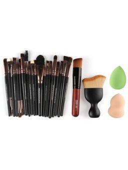 Harga 22 Pcs Face Eye Makeup Brushes and Beauty Blenders - intl