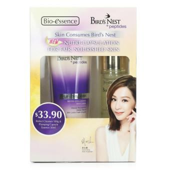 Harga Bio-essence Skin Consumes Bird's Nest Twin Pack (Perfect Cleanser 100g + Plumping Capsule Essence 30ml)