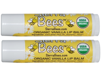 Harga Sierra Bees, Organic Creme Brulee Beeswax Lip Balm, pack of 2