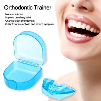 Harga 1Pc Orthodontic Trainer Teeth Alignment Straight Teeth System Adult Mouthpieces Brace Dental Tray Mouthguard With Box - intl