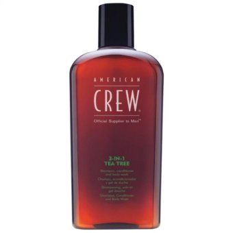 Harga American Crew 3 In 1 Tea Tree Shampoo, Conditioner and Body Wash