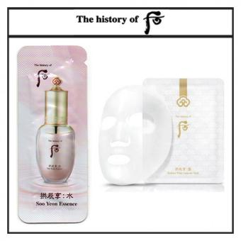 Harga The History of Whoo Gongjinhyang Soo Yeon Essence Free Sample (1mlx10pcs) + The History of Whoo Gongjinhyang Seol Radiant White Ampoule Mask 25g - intl