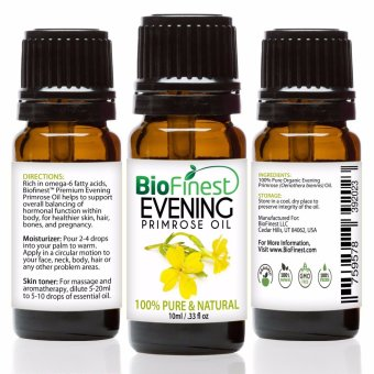 Biofinest Evening Primrose Organic Oil (100% Pure Organic Carrier Oil) 10ml