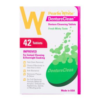 Harga Pearlie White DentureClean Denture Cleansing Tablets 42s