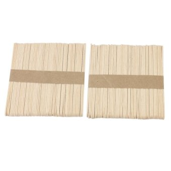Harga Honeymore 100 Pcs Wooden Waxing Applicators Sticks for Face & Eyebrows Wax Spatula Hair Removal - intl