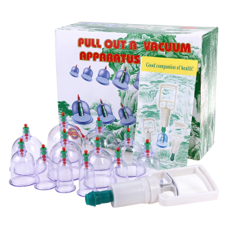 Harga Cupping Set 12 Cups New Vacuum Suction Chinese Medical Body Healthy Care Massage