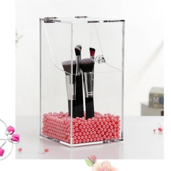 Acrylic Organizer Cosmetic Box Makeup Brush Holder Lipstick Cosmetic Storage Box Organizer For Cosmetics Case - intl