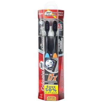 Harga Colgate 360 Charcoal Toothbrush 2s Pack