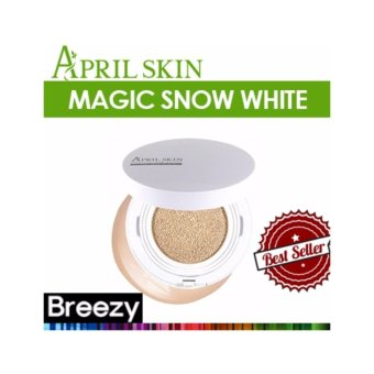 Harga APRIL SKIN Magic Snow Cushion White No. 21 Light Beige - intl