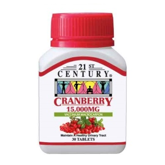 Harga 21st Century Cranberry Extract Tablets 15,000mg per tablet