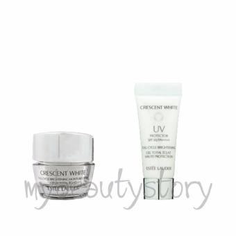 Harga Estee Lauder Crescent White Full Cycle Brightening Moisture Creme 5ml And UV Protector SPF50/PA++++ 15ml Travel Size