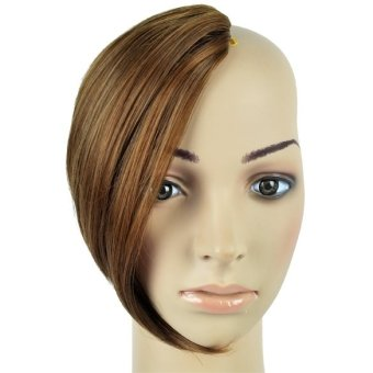 "Harga Women""s Appealing One Piece Clip Clip In On Bang Fringe Hairpiece (Brown) - intl"