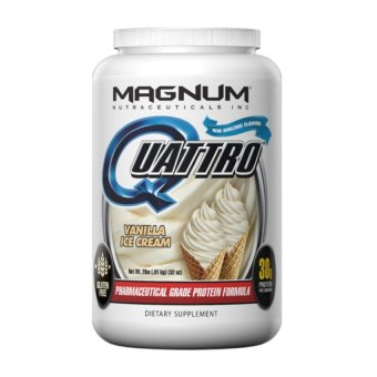 Harga MAGNUM QUATTRO, WORLD'S MOST ADVANCED PHARMACEUTICAL GRADE PROTEIN ISOLATE, CHOCOLATE LOVE, 2 LBS