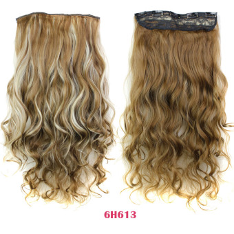 Harga Curly 5 Clips in False Hair Styling Synthetic Clip In Hair Extensions 6H613