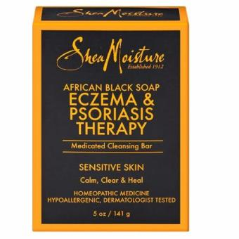 Harga SheaMoisture African Black Soap Eczema & Psoriasis Therapy Medicated Cleansing Bar