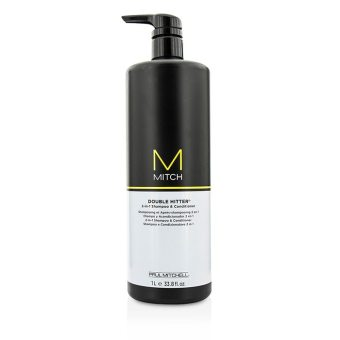 Harga Paul Mitchell Mitch Double Hitter Sulfate-Free 2-in-1 Shampoo & Conditioner 1000ml/33.8oz