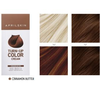 Harga [APRILSKIN] TURN-UP COLOR CREAM #CINNAMON BUTTER ( Hairdye 1 : 60g - Intl