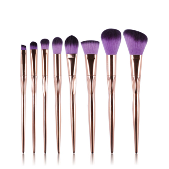 Harga Cosmetic Make Up Brushes Brush Set Makeup Blush Set Kit 8Pcs(Purple)