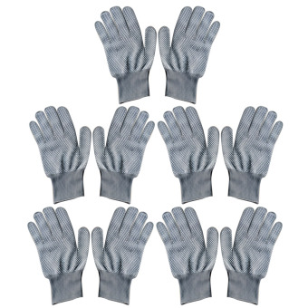 Harga 5 Pair Unisex Heat Resistant Heat Blocking Glove for Curling Flat Iron Curling Wand Hair Styling Gray - intl