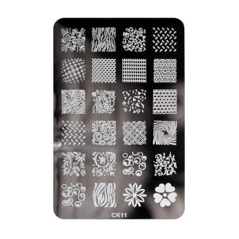 Harga Nail Art Stamp Plate Reusable Metal Template Art Image Design