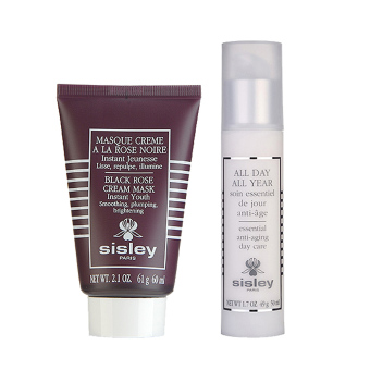 Harga Sisley All Day All Year - Essential Anti-Aging Day Care + Black Rose Cream Mask (1 set, 2 pcs)