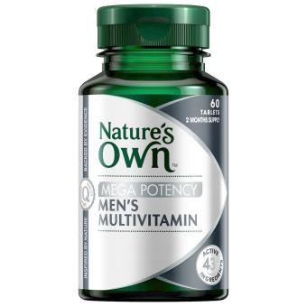 Harga Nature's Own Men's Multivitamin Mega Potency 60 Tablets