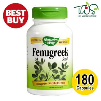Harga Nature's Way Fenugreek Seed 610mg 180 VCaps