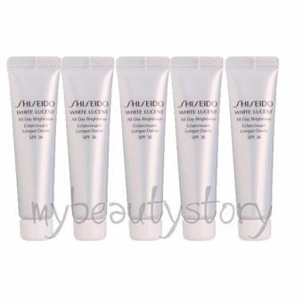 Harga Shiseido White Lucent All Day Brightener (Sunblock) SPF 36 10ml x 5