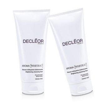 Harga Decleor Aroma White C+ Brightening Cleansing Foam Duo Pack (Salon Size) 2x200ml/6.7oz - intl