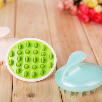 Harga Shampoo Massage Brush Bath Massage Brush Head Massager Body Massage Brush - intl