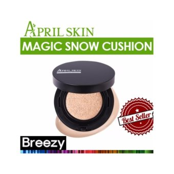 Harga APRIL SKIN Magic Snow Cushion Black No. 22 Pink Beige - intl