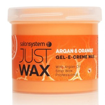 Harga Salon System Just Wax Gel-E-Creme Argan and Orange Wax - 425g
