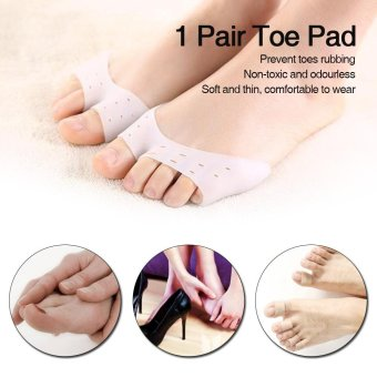 1 Pair Toe Pads Forefoot Cushions Toe Protector Foot Protection Open-toed Toe Protective Cover Pads Toe Care Tool - intl