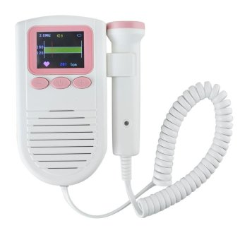 Harga Vinmax Color LCD Display Pocket Fetal Doppler Prenatal Heart Baby Heart Monitor FHR Detector With 2MHz Probe - intl