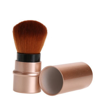 Harga Retractable Cosmetic Brush Makeup Contour Foundation Blush l(Gold) - intl
