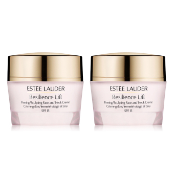 Harga Estee Lauder Resilience Lift Firming Sculpting Face and Neck Creme SPF15 x 2